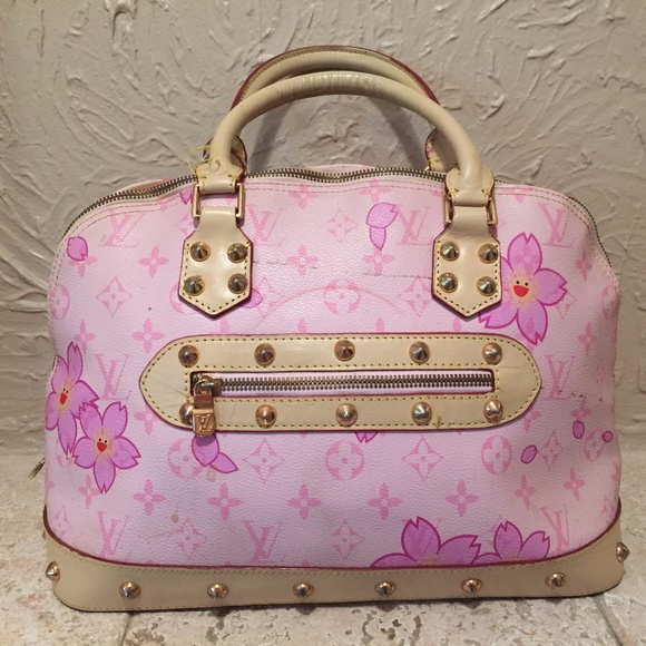 64a82f41a02e Handbags - Louis Vuitton Light Pink With Dark Pink Sun Flower